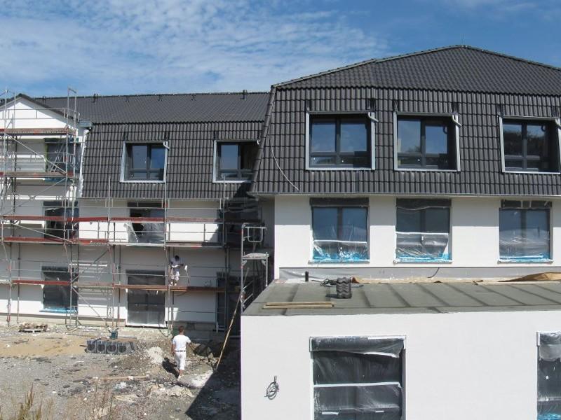 Luftdichtigkeitsmessung eines Altenpflegeheims in Brilon Luftinhalt 11.100 m3 2013