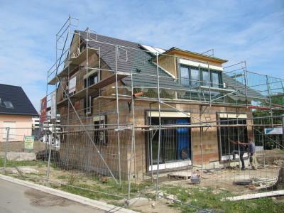 Luftdichtigkeitsmessung zur Qualitätssicherung Messung eines Passivhauses in Wetter in der Bauphase