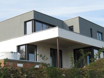 Luftdichtigkeitsmessung und Zertifikat für hochwertiges Einfamilienhaus in Witten (ohne Lüftungsanlage)