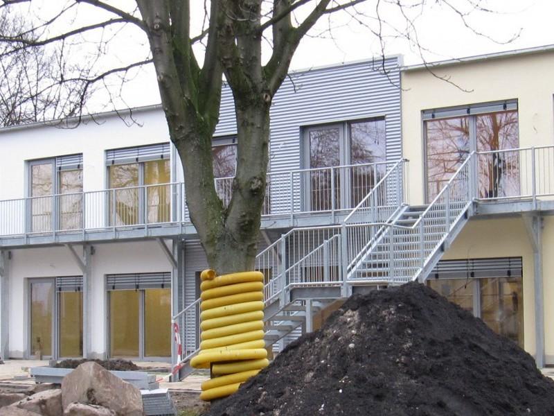 Kindertagesstätte, 2 geschossig, Dortmund, Luftdichtigkeitsmessung Innenvolumen 2.800 m3, 2013