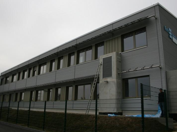 Bergheim, Laborgebäude Erftverband, Luftdichtigkeitsmessung 2008