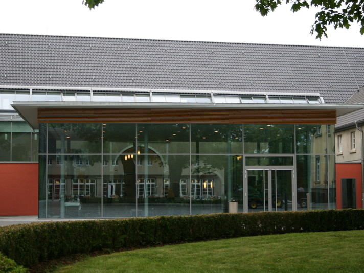 Schwerte, Haus Villigst, Seminargebäude Neubau, Luftdichtigkeitsmessung 2008