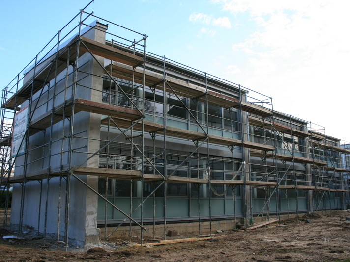Bonn, Paul-Gerhard Schule, Messung in der Bauphase, 2008