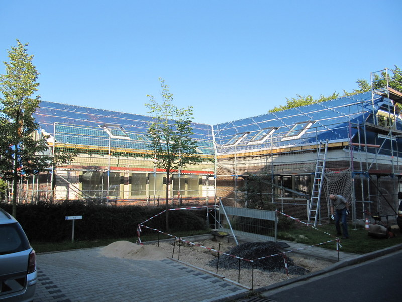 Bergheim, Sanierung und Umbau Altes Labor, Messung in der Bauphase 2013