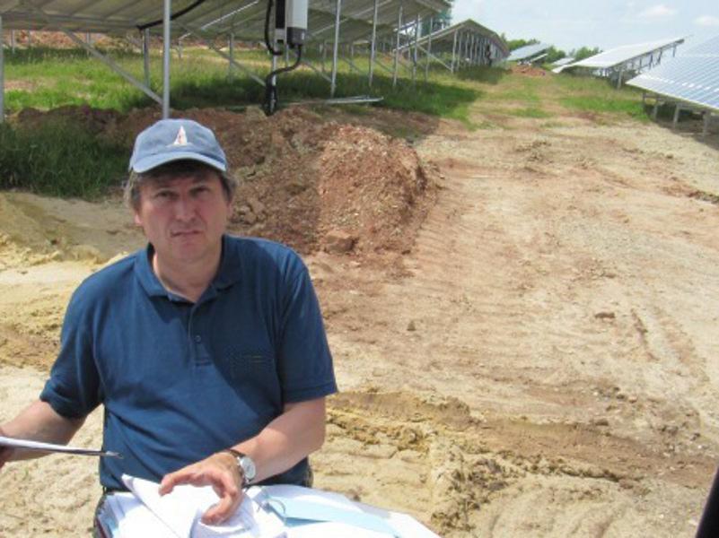 Bauleitung bei einem Fotovoltaik Pojekt
