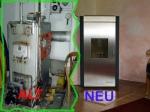 Alter Kessel - neue Heizung: 10 kW Holzpellets Zimmerofen zur Beheizung der gesamten 220 m2