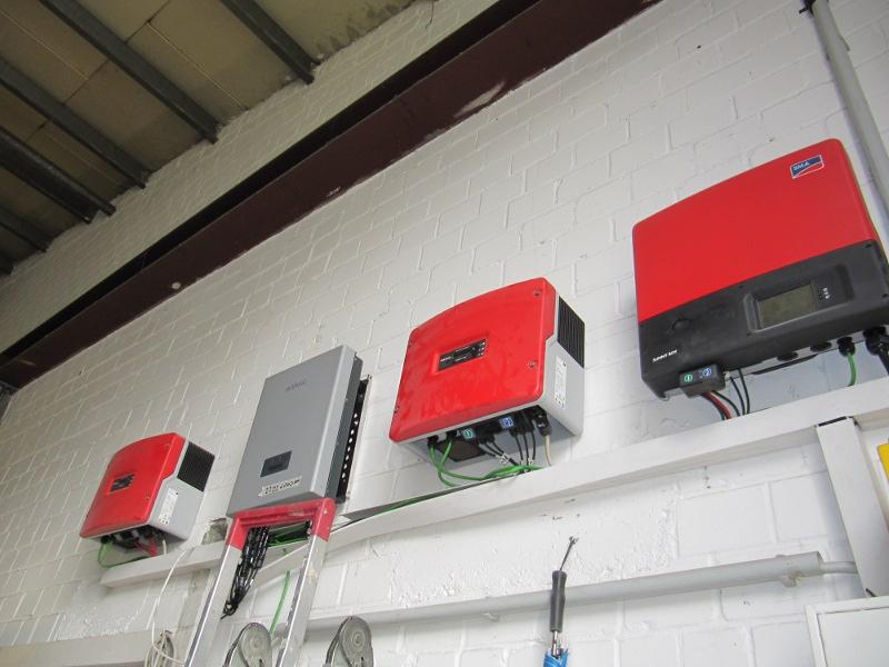 Wechselrichter für die  16 kWp auf HEUTEC Hallendach, Herdecke