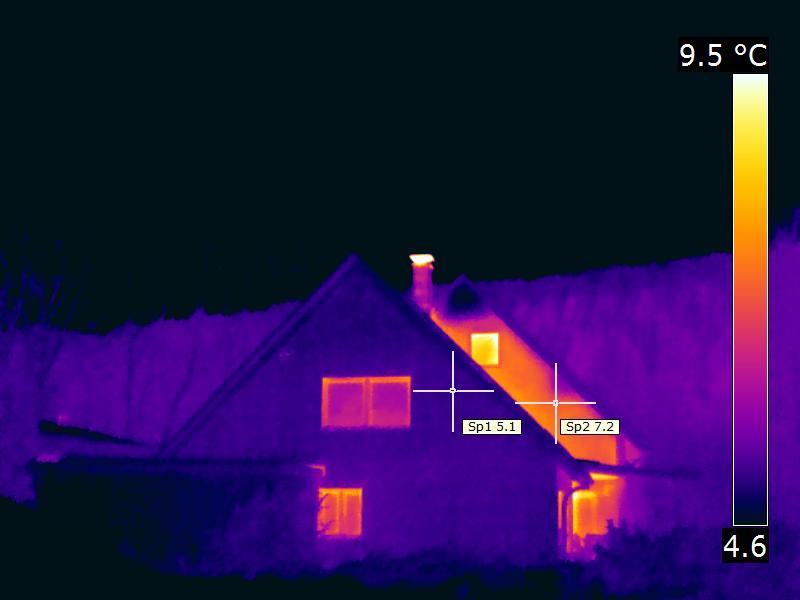 Thermografie, Wärmebild, Energetische Sanierung, KFW Effizienzhaus, KFW 55, KFW 40, Aussendämmung