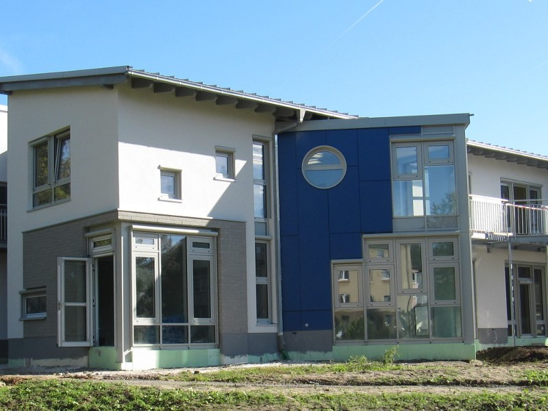 Kindertagesstätte, Luftdichtigkeitsmessung Innenvolumen 2100 m3, Solingen, 2011