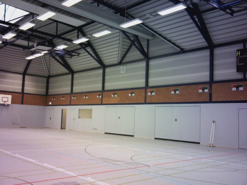 Solingen, Mehrfachsporthalle Luftdichtigkeitsmessung 2012