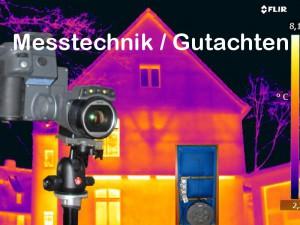 HEUTEC Messdienstleistungen am Bau: Luftdichtigkeitsmessungen, Blower Door, Thermografie, Feuchte, Schimmeluntersuchung