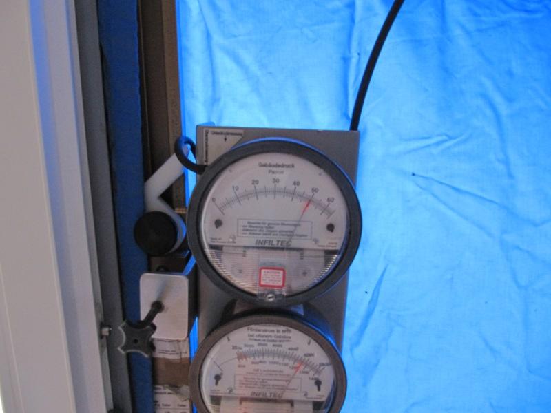 Messdosen für die Luftdichtigkeitsmessung