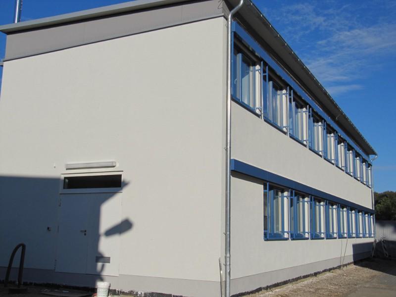 Remlingen, Blower Door Test eines Verwaltungsgebäudes