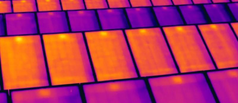 HEUTEC Thermografie PV Module, Leistungsverluste, Stranganomalien