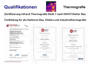 Sabine Gülker - Thermografie DIN EN 473 - 1 zertifiziert, Fortbildung Bau, Elektro und Industriethermografie