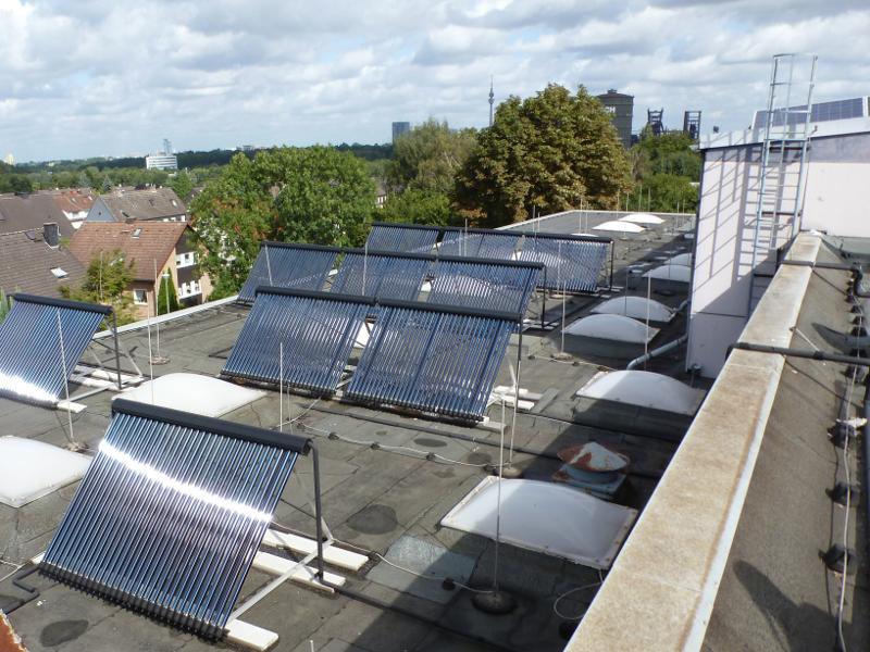 Solarthermie für ein Schwimmbad in Dortmund