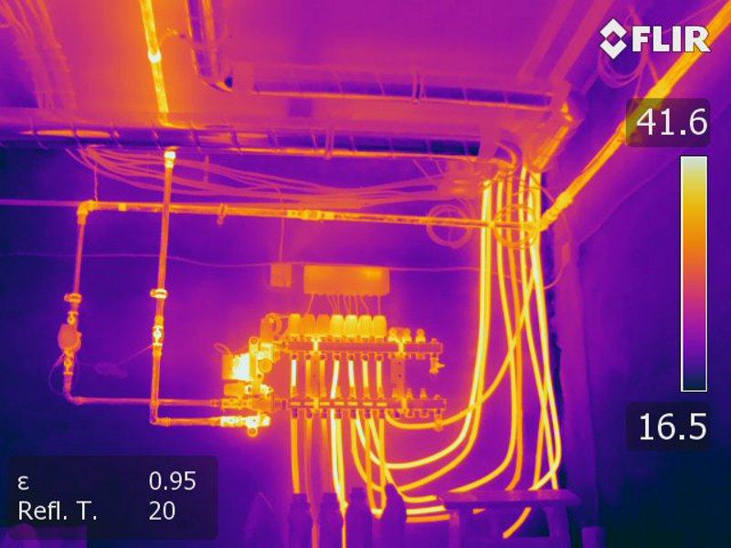 Thermografie Heizverteiler