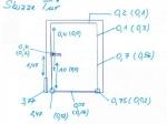 Skizze von Lufteintrittgeschwindigkeiten bei Leckagesuche an undicher Haustür