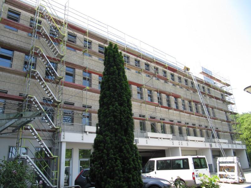 Sanierung/Umbau Altes Labor. Luftdichtigkeitsmessung aller Etagen 2012